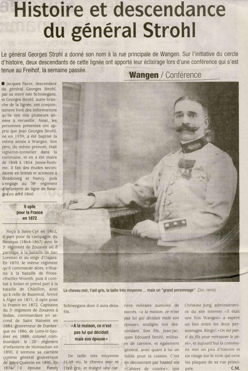 Soirée Conférence autour de 3 militaires de la famille Strohl mardi 20 avril 2010 à 20h à Wangen Image064