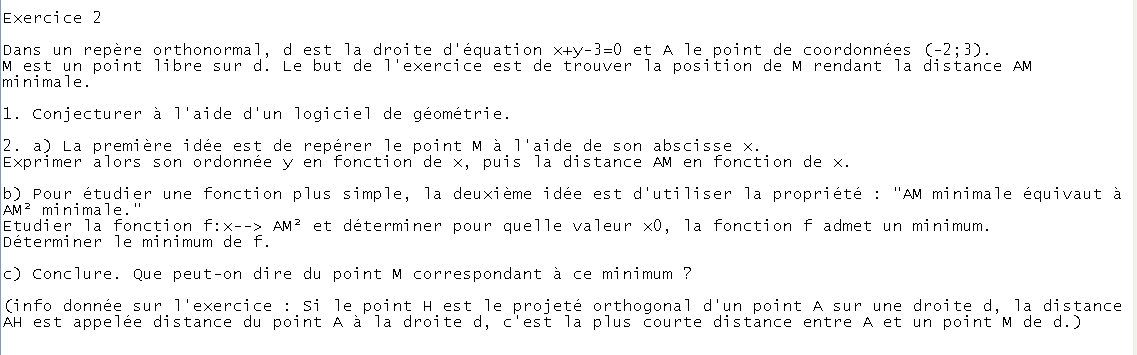 DM Maths (exercice 2) Ex210
