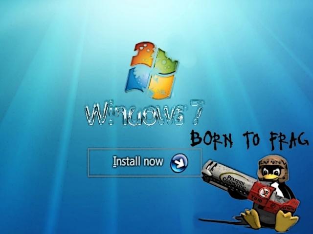 Fond écran, Tux détruit Windows  Tux-wi13