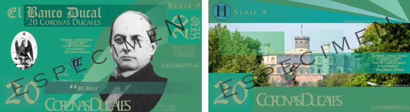 Serie A de los Billetes de la Corona Ducal (ABRIL, 2010) Muestr10