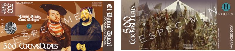 Serie A de los Billetes de la Corona Ducal (ABRIL, 2010) Muestr13