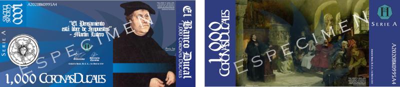 Serie A de los Billetes de la Corona Ducal (ABRIL, 2010) Muestr14