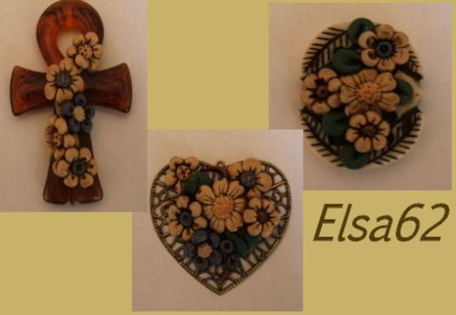 Ciondoli in resina e filigrana con fiorellini anticati Ciondo11