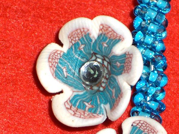 Orecchini con fiore di murrina Immagi23