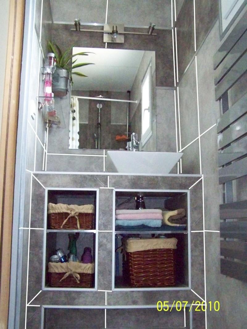 petite salle d'eau attenante à une chambre rez de chaussée Noir10