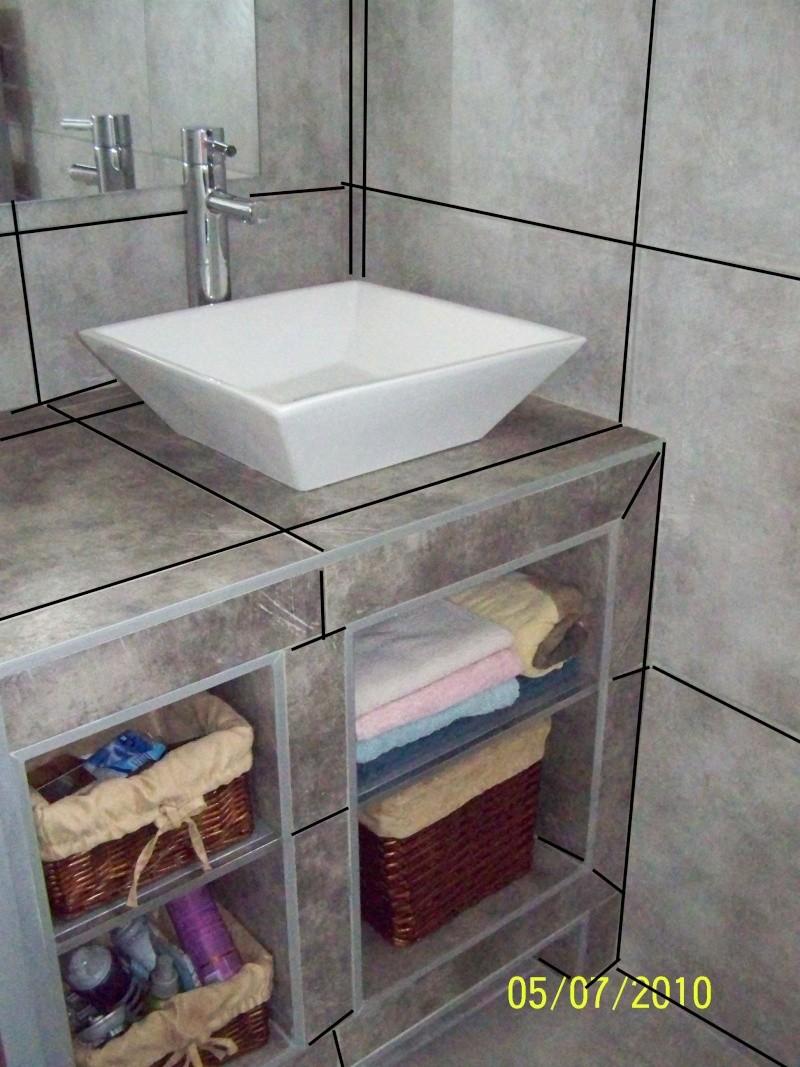 petite salle d'eau attenante à une chambre rez de chaussée Noir110