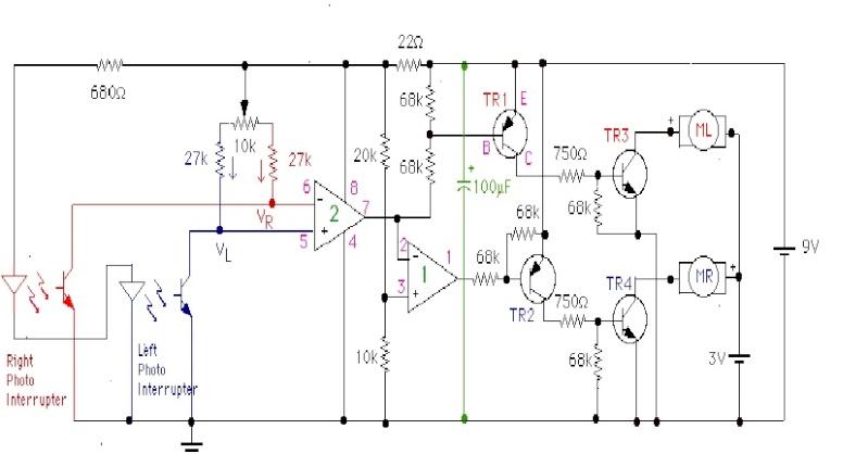 Line Follower(logical circuit) using 555 Lfr_ck12