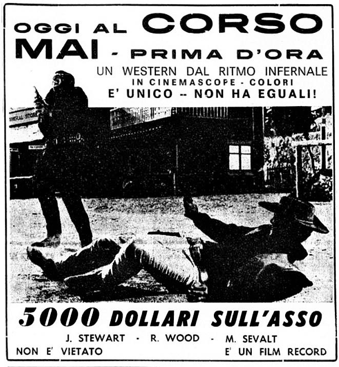 5.000 dollars sur l'as . Pistoleros de Arizona . 1964 . Alfonso Balcazar. 5000-d10