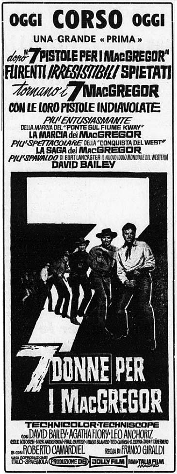 Les 7 écossais explosent - Sette donne per i McGregor - Franco Giraldi - 1966 - Page 2 7-donn10