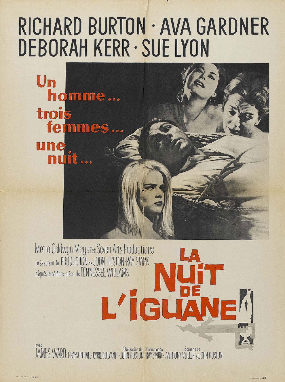 La Nuit de l'iguane. The Night of the Iguana. 1964. John Huston. 85241110