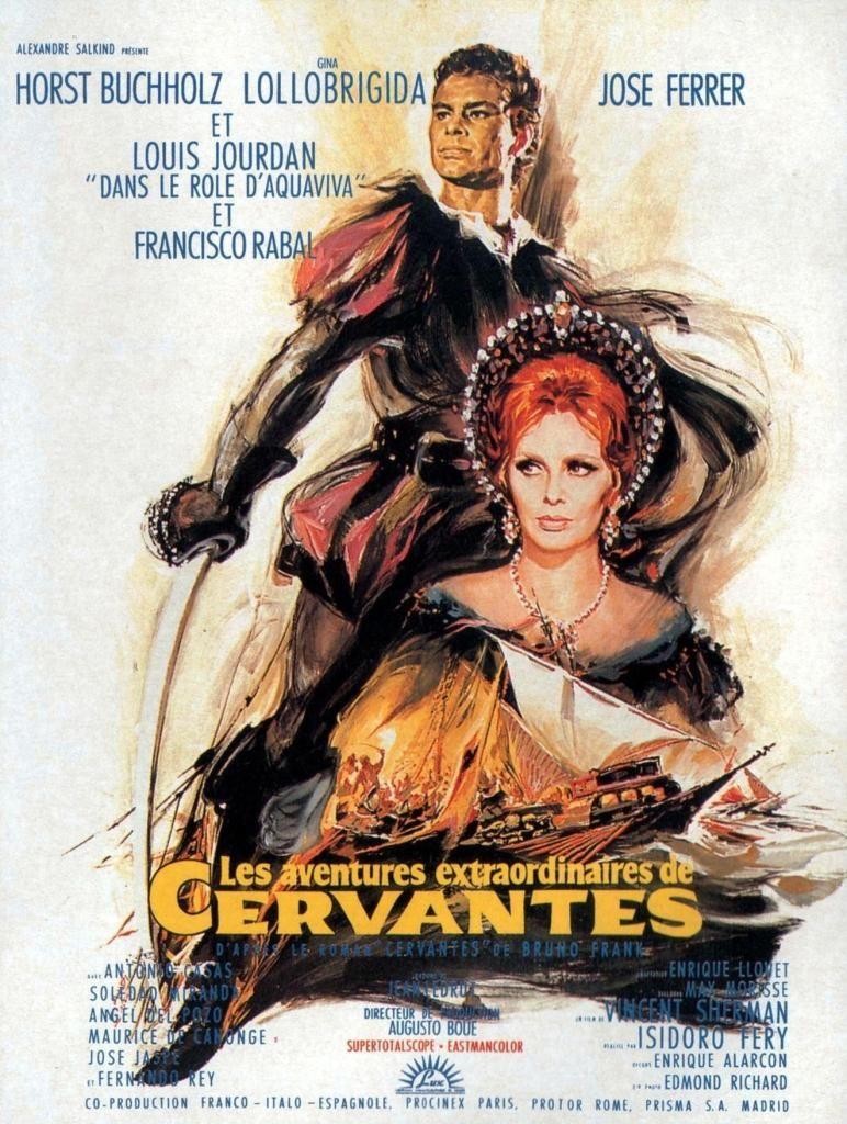 Les aventures extraordinaires de Cervantès. Cervantes. 1967.  Vincent Sherman . Aff_ce10