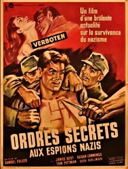 Ordres secrets aux espions nazis - Verboten! - 1959 - Samuel Fuller Affich14