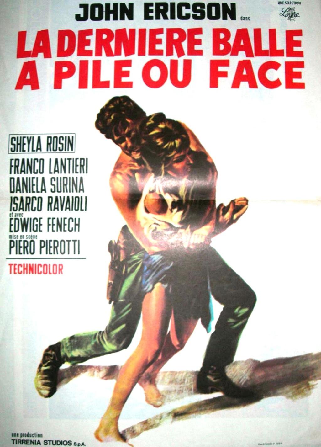 La dernière balle à pile ou face . ( Testa o croce ) 1968 . Piero Pierotti . Affich19