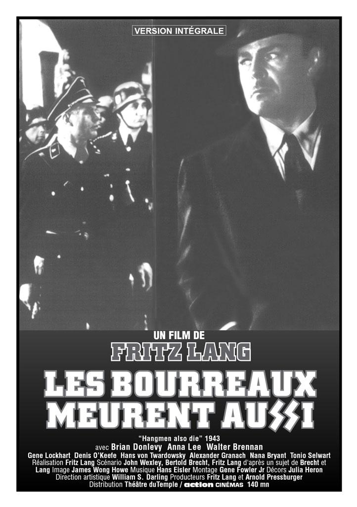 Les Bourreaux meurent aussi. Hangmen Also Die! 1943. Fritz Lang. Affich20