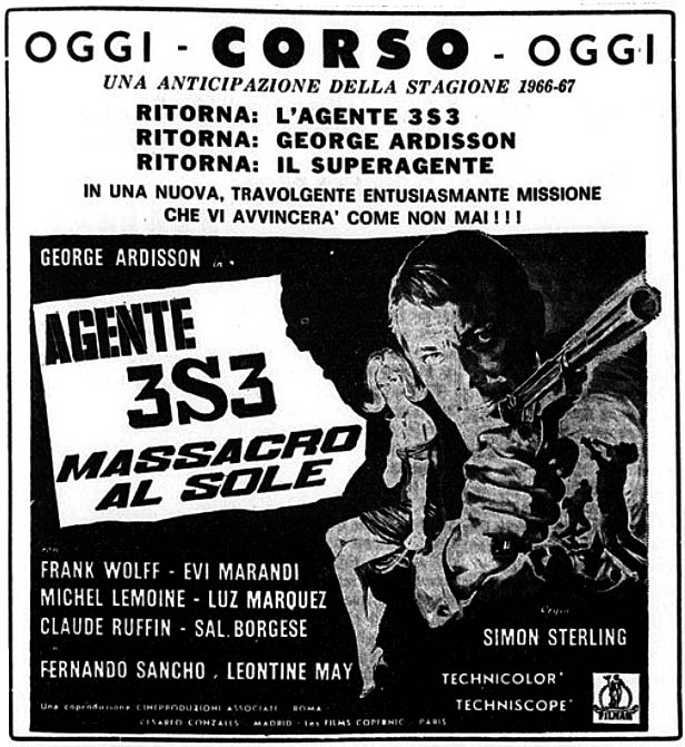 Agent 3 S 3 Massacre au Soleil - 3-S-3, agente especial (Agente 3S3 massacro al sole, 1966) Sergio Sollima Agente11