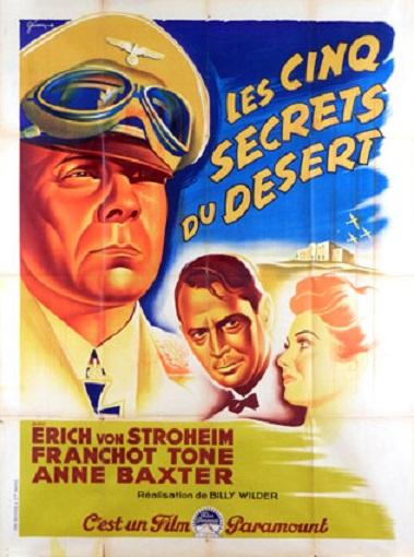 Les Cinq Secrets du désert. Five Graves to Cairo. 1943. Billy Wilder. Cinq-s10