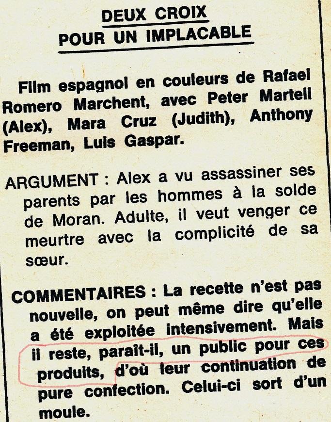 2 croix pour un implacable - Due croci a Danger Pass - 1967 - Rafael Romero Marchent Deux-c10