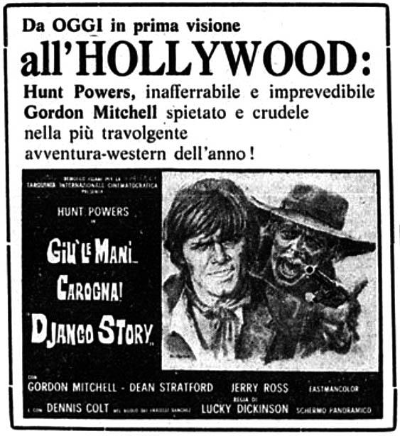 Haut les mains, salaud! Giù le mani... Carogna! (Django Story). 1971. Demofilo Fidani. Django12