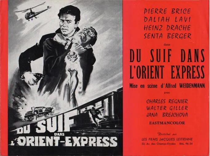 Du suif dans l'Orient-Express. Schüsse im Dreivierteltakt. 1965. Alfred Weidenmann. Du_sui10