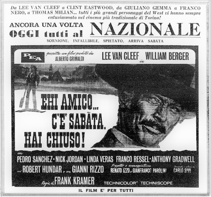Sabata - Ehi amico... c'è Sabata, hai chiuso! - 1969 - Frank Kramer ( Gianfranco Parolini ) Ehi-am10
