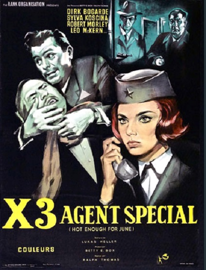 X3, agent secret. Hot Enough for June. 1964. Ralph Thomas. En118010