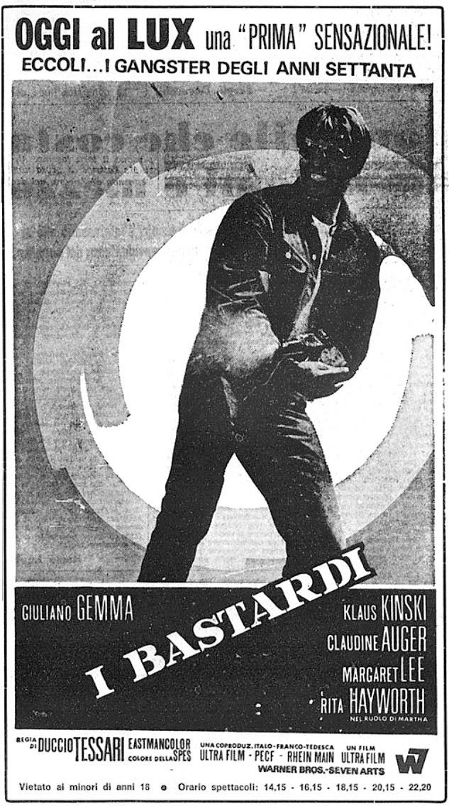 Le Bâtard, I Bastardi, Duccio Tessari, 1968. - Page 2 I-bast10