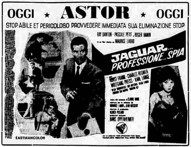 Corrida pour un espion. 1965. Maurice Labro. Jaguar10