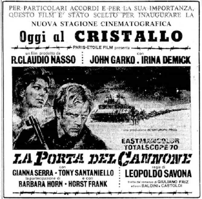 Le Canon de la dernière chance. La porta del cannone. 1969. Leopoldo Savona. La-por10