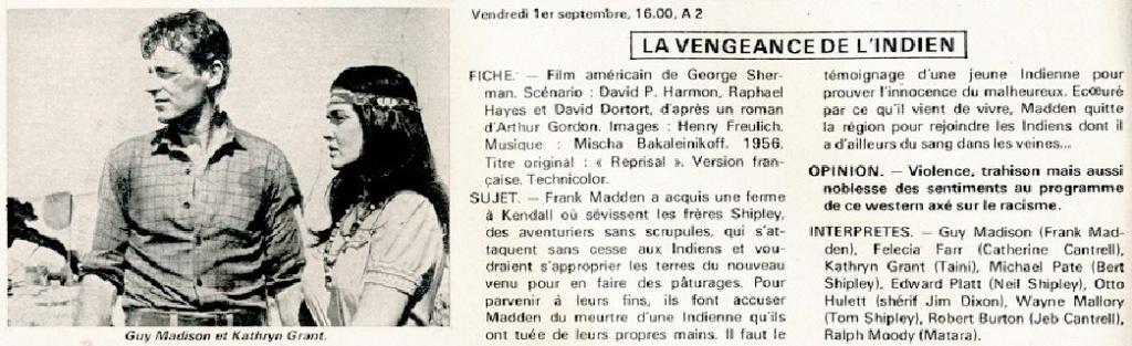 La vengeance de l'indien- Reprisal - 1956- George Sherman La-ven10