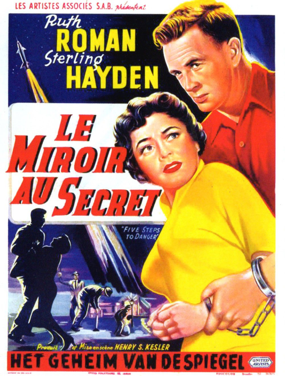 Le Miroir au secret. 5 Steps to Danger. 1957.  Henry S. Kesler . Le_mir10