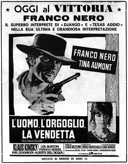 L'homme , l'orgueil et la vengeance . L'uomo, l'orgoglio, la vendetta . 1967 . Luigi Bazzoni . Luomo-11
