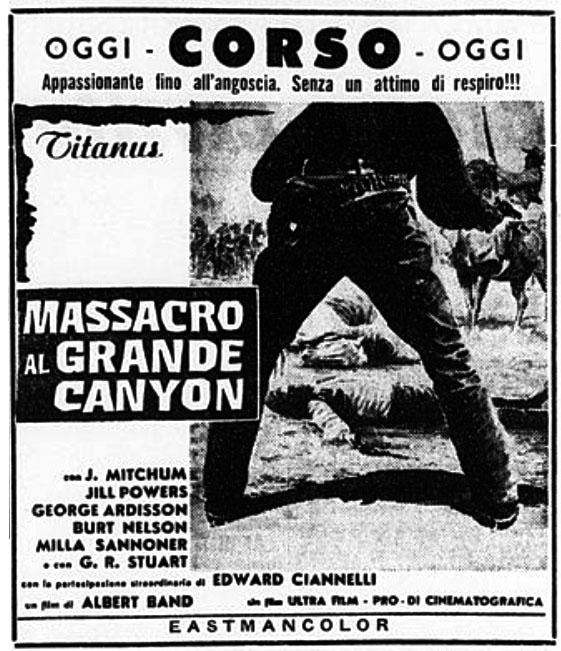 Massacre au Grand Canyon . 1963 . Albert Band et Sergio Corbucci . Massac10