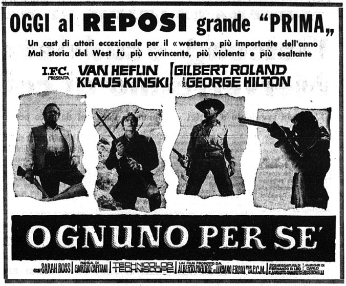 Chacun pour soi ( Ognuno per Se ) –1967- Giorgio CAPITANI - Page 5 Ognuno11