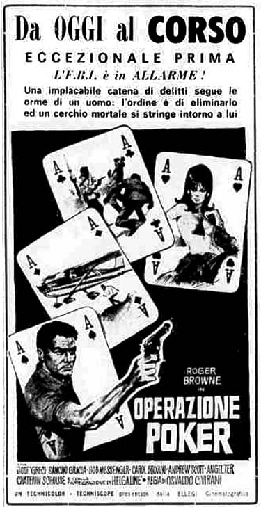 Operazione Poker-OPERACIÓN PÓKER (AGENTE 0S-14)-Osvaldo Civirani , 1966  Operaz11