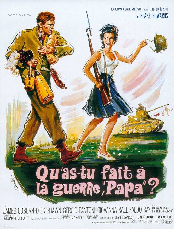 Qu' As Tu Fais à la Guerre Papa ? What Did You Do in the War, Daddy? - Blake Edwards - 1966 Qu-as-10