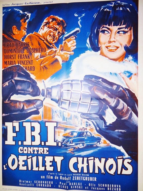 F.B.I. contre l'Oeillet chinois. Das Geheimnis der chinesischen Nelke. 1964. Rudolf Zehetgruber. S-l16043