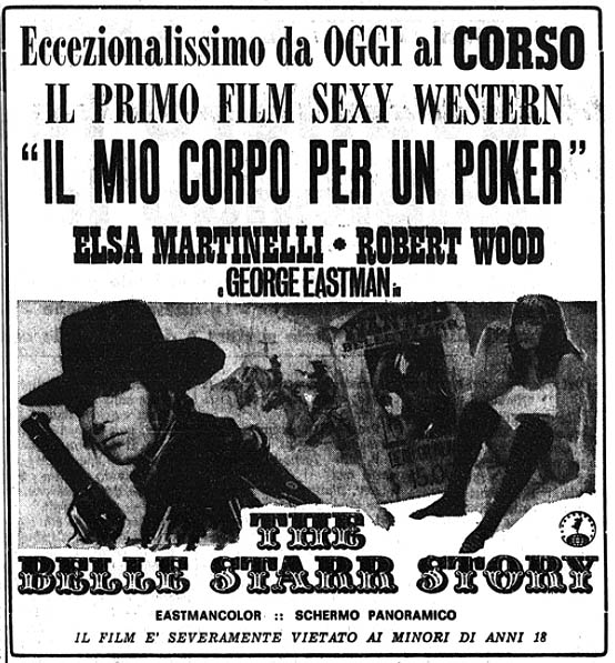 The Belle Starr Story (Il Mio Corpo per un poker) –1968- Piero CRISTOFANI The-be10