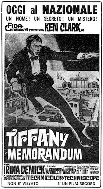 Coup de force à Berlin. Tiffany memorandum. 1967. Sergio Grieco. Tiffan10
