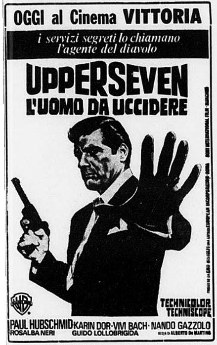 Espionnage à Capetown. Upperseven, l'uomo da uccidere. 1966. Alberto de Martino Uppers10
