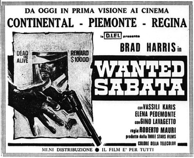 Wanted Sabata –1970- Roberto MAURI Wanted11