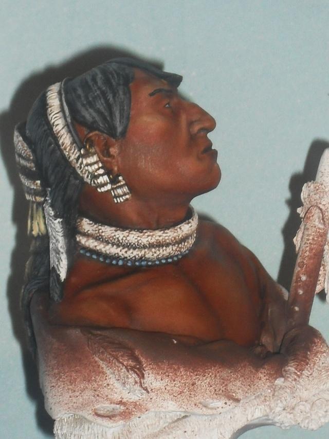 Guerrier mandan à l'huile Mandan18
