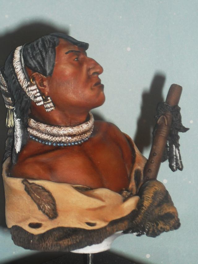 Guerrier mandan à l'huile Mandan26