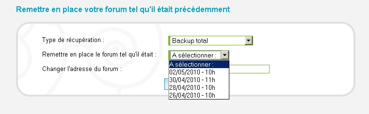 Faire connaitre le forum Backup10