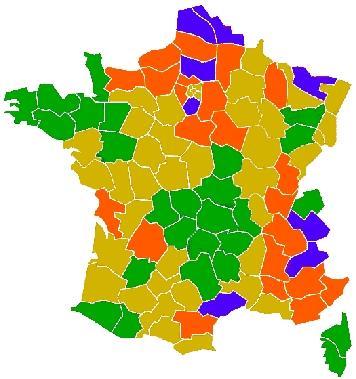 carte dureté de l eau par commune Carte FR de la dureté de l'eau (TH) pars départements.