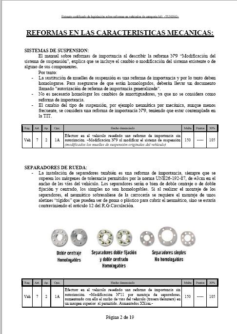 LEGISLACIÓN ESPAÑA REFORMA VEHICULO M1 Tuning11