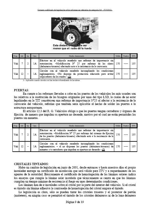 LEGISLACIÓN ESPAÑA REFORMA VEHICULO M1 Tuning18