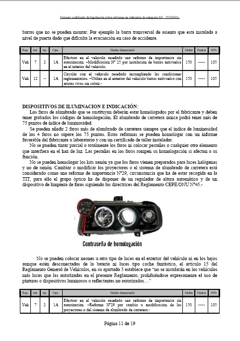 LEGISLACIÓN ESPAÑA REFORMA VEHICULO M1 Tuning21