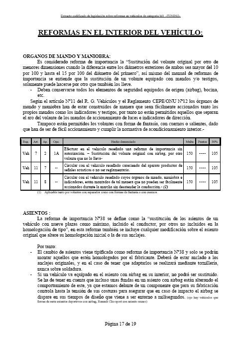 LEGISLACIÓN ESPAÑA REFORMA VEHICULO M1 Tuning27