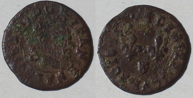 LOUIS XIII LE JUSTE (14/05/1610-14/05/1643) Denier tournois de Navarre - 1635 Imgp8610