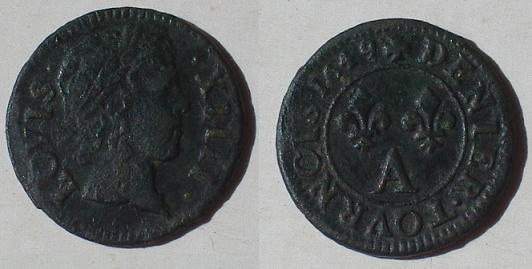 Denier tournois 1649 A LOVIS XIIII Imgp8710